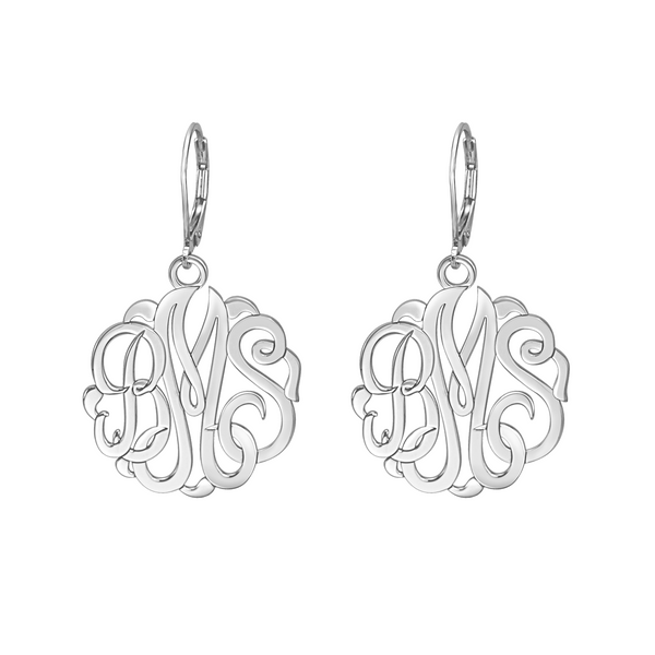 Classic Monogram Leverback Earrings Apparel & Accessories > Jewelry > Earrings - 3