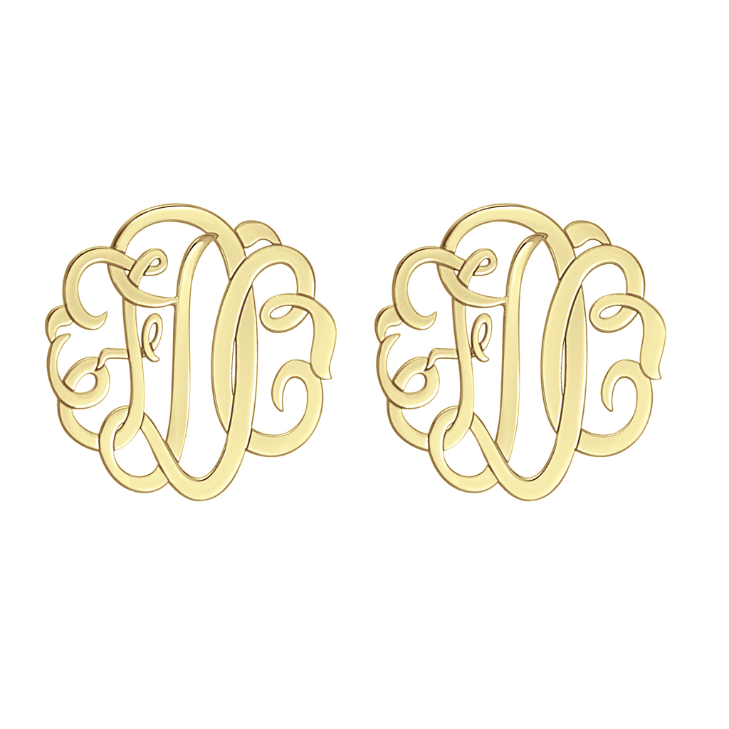 Classic Monogram Stud Earrings Apparel & Accessories > Jewelry > Earrings - 1