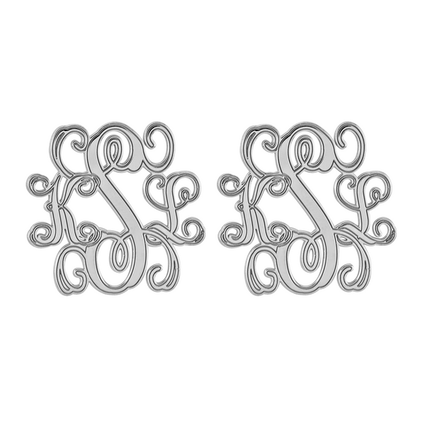 Interlocking Script Monogram Stud Earrings Apparel & Accessories > Jewelry > Earrings - 2