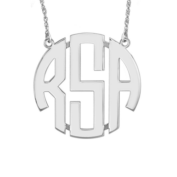 Block Monogram Necklace Apparel & Accessories > Jewelry > Necklaces - 2