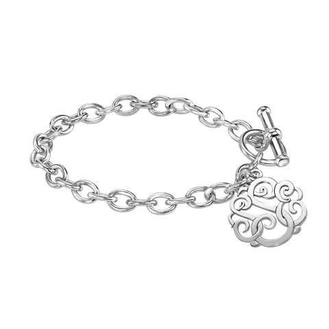 Classic Monogram Toggle Bracelet-Alison and Ivy Apparel & Accessories > Jewelry > Bracelets