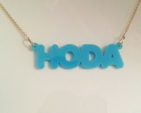 Capital Acrylic Nameplate Necklace by Purple Mermaid Designs Apparel & Accessories > Jewelry > Necklaces - 1