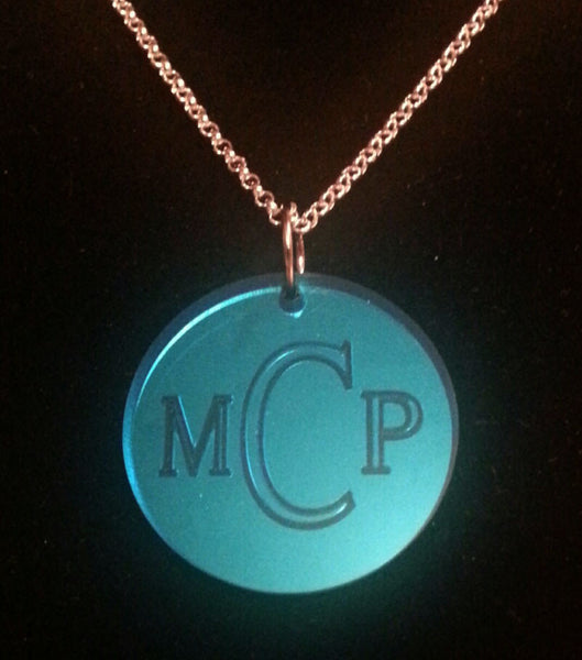 Acrylic Engraved Disc Necklace by Purple Mermaid Designs Apparel & Accessories > Jewelry > Necklaces - 6
