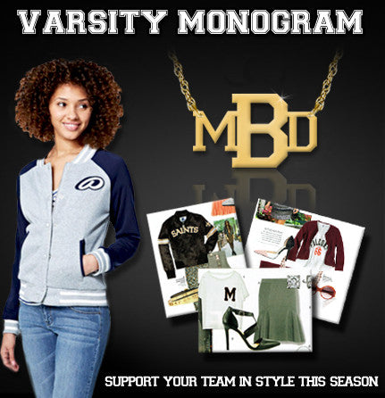 Jane Basch Varsity Monogram Necklace Apparel & Accessories > Jewelry > Necklaces - 2
