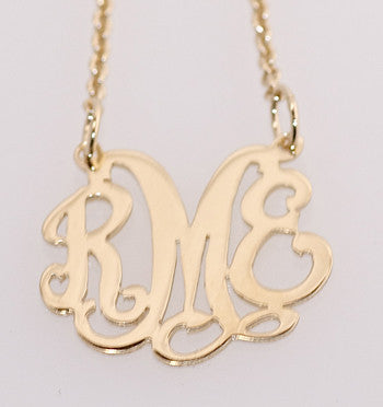 Caja Gold Custom Monogram Necklace Apparel & Accessories > Jewelry > Necklaces