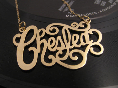 Gold Custom Nameplate Necklace Apparel & Accessories > Jewelry > Necklaces - 2