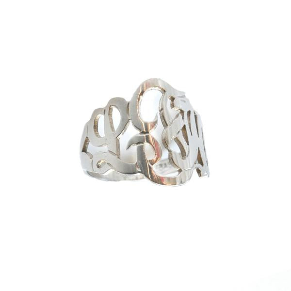 Moon and Lola Sterling Silver Cutout Monogram Ring Apparel & Accessories > Jewelry > Rings - 1