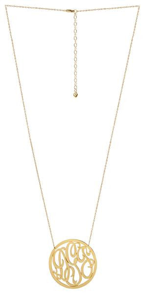Cheshire Rimmed Monogram Necklace - Moon and Lola Apparel & Accessories > Jewelry > Necklaces - 4