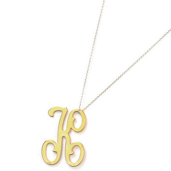 Moon and Lola Script Initial Necklace Apparel & Accessories > Jewelry > Necklaces - 1