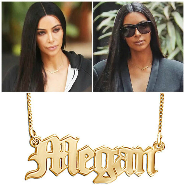 Old English Nameplate Necklace Apparel & Accessories > Jewelry > Necklaces - 5
