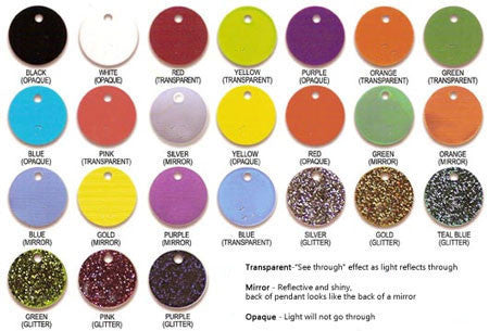 Acrylic Engraved Disc Necklace by Purple Mermaid Designs Apparel & Accessories > Jewelry > Necklaces - 8
