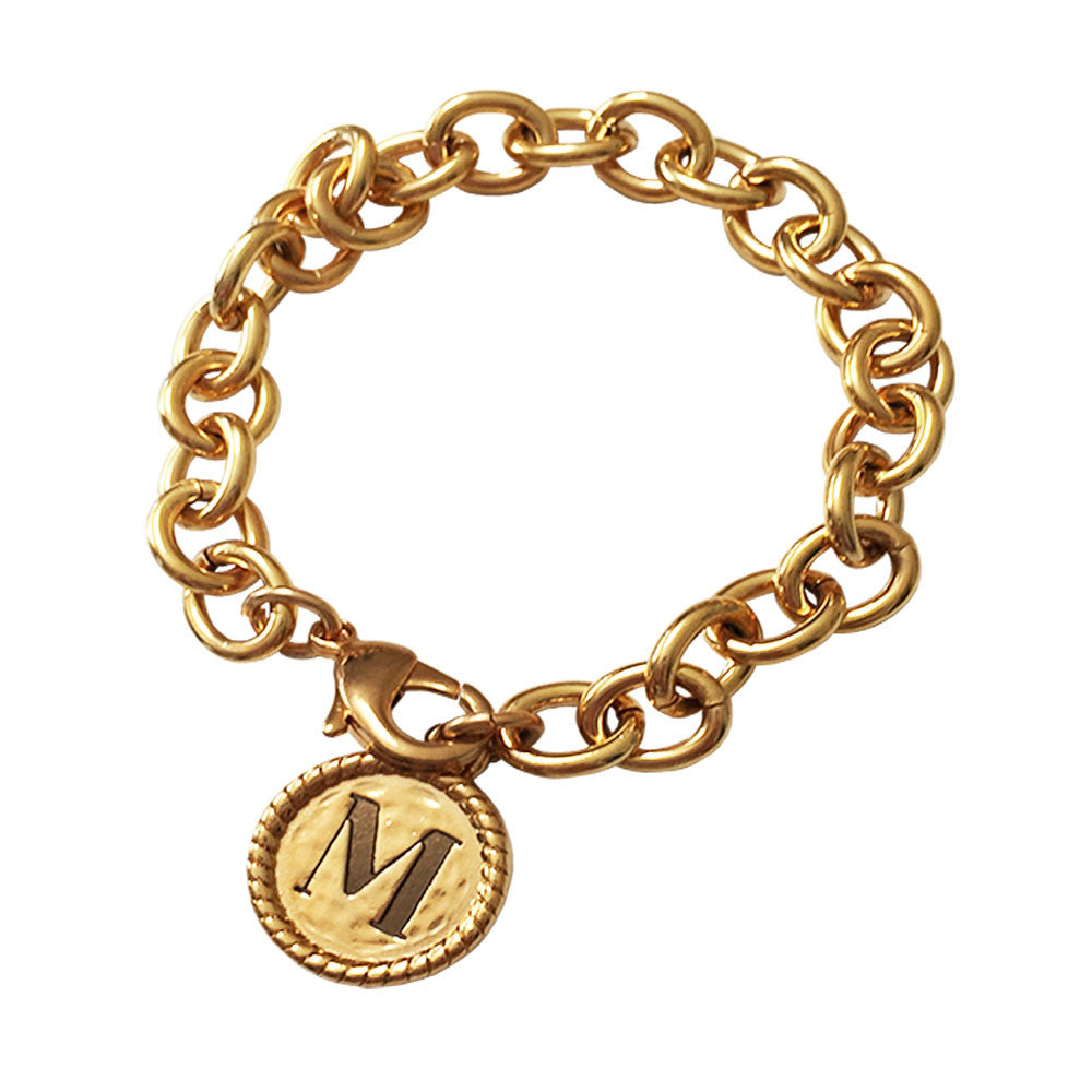 Lisa Stewart 18K Gold Plated Initial Link Bracelet Apparel & Accessories > Jewelry > Bracelets