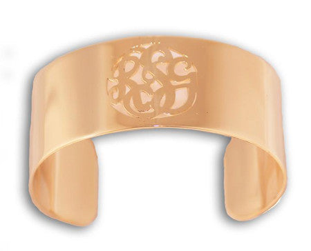 Caja Cut Out Monogram Cuff Bracelet Apparel & Accessories > Jewelry > Bracelets