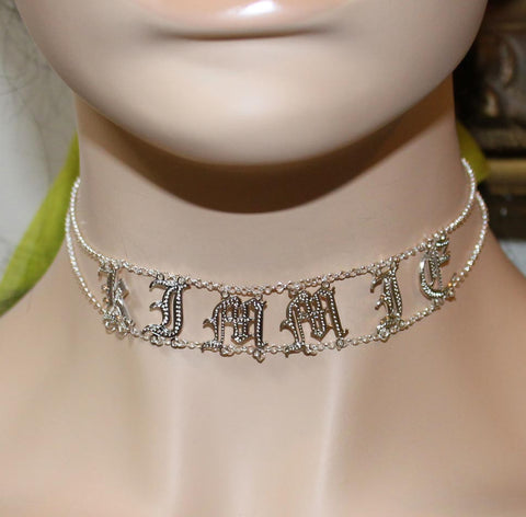 Custom Name Choker - Purple Mermaid Designs Apparel & Accessories > Jewelry > Necklaces - 1