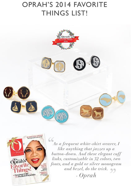 Eden Personalized Round Cuff Links by Moon and Lola Apparel & Accessories > Jewelry > Cufflinks - 4