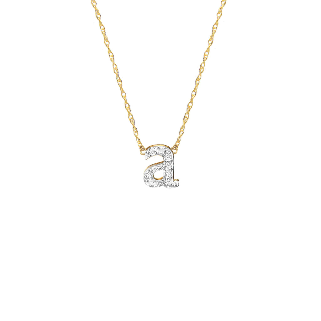 eed298a60b8a Diamond Initial Necklace - Moon and Lola – Initial Obsession