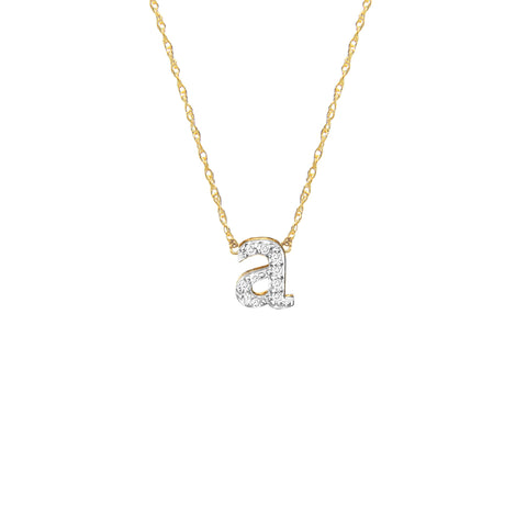 Diamond Initial Necklace - Moon and Lola