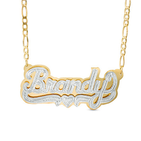 Custom 3D Double Plated Name Necklace