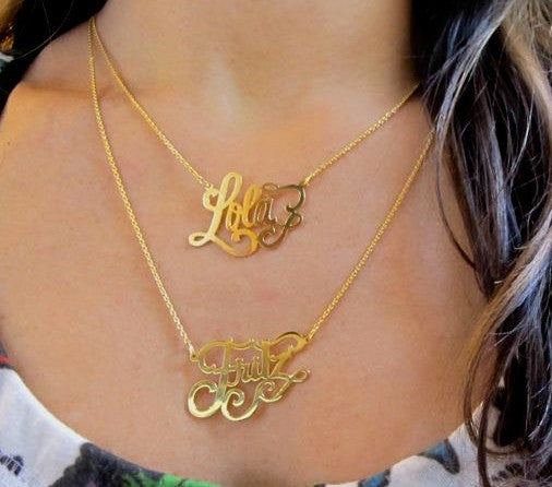 Gold Custom Nameplate Necklace Apparel & Accessories > Jewelry > Necklaces - 3