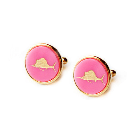 Eden Personalized Round Cuff Links by Moon and Lola Apparel & Accessories > Jewelry > Cufflinks - 3