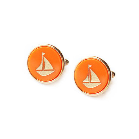 Eden Personalized Round Cuff Links by Moon and Lola Apparel & Accessories > Jewelry > Cufflinks - 1