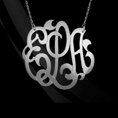 Sterling Silver Freeform Monogram Necklace Apparel & Accessories > Jewelry > Necklaces - 2