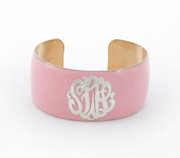 Enamel Monogram Cuff Bracelet Apparel & Accessories > Jewelry > Bracelets - 3