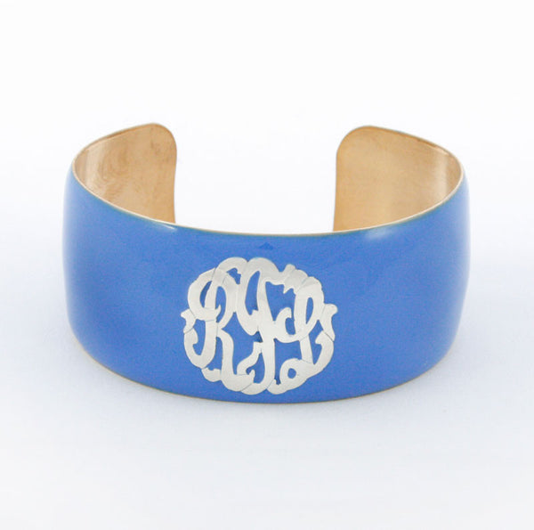 Enamel Monogram Cuff Bracelet Apparel & Accessories > Jewelry > Bracelets - 4