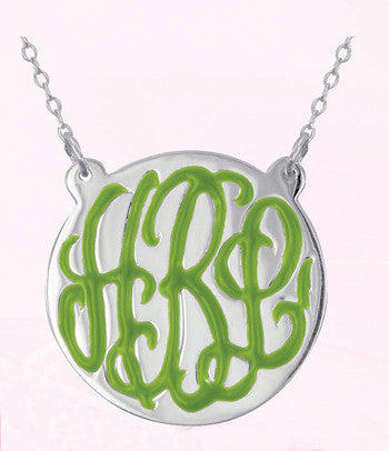 Enamel Hand Engraved Necklace ~ Split Chain Apparel & Accessories > Jewelry > Necklaces - 1