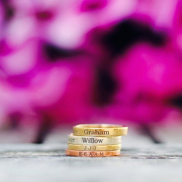 Personalized 14K Gold Band Ring