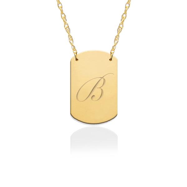 Mini Engraved Dog Tag Necklace - Jane Basch Apparel & Accessories > Jewelry > Necklaces - 1