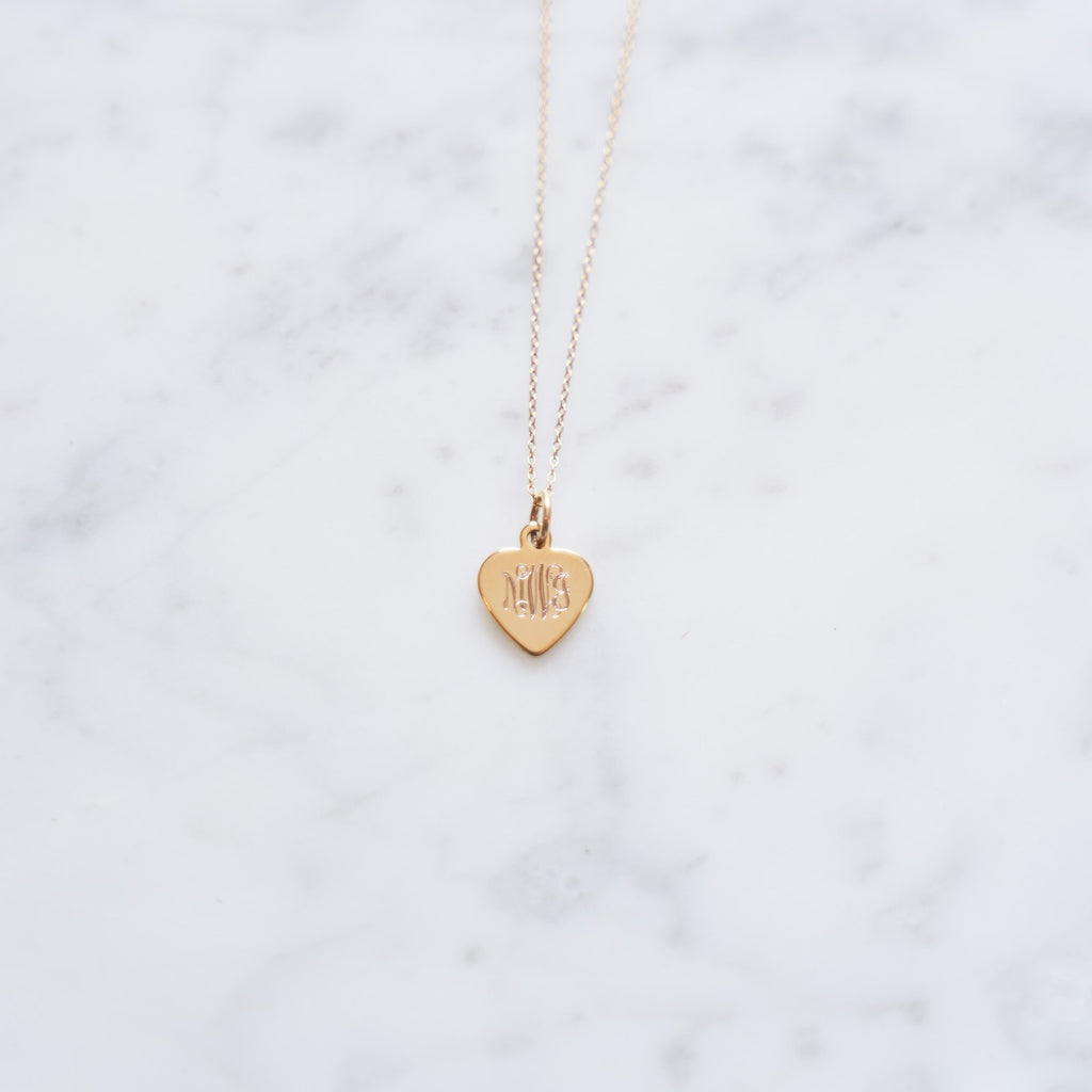 Gold Petite Heart Necklace