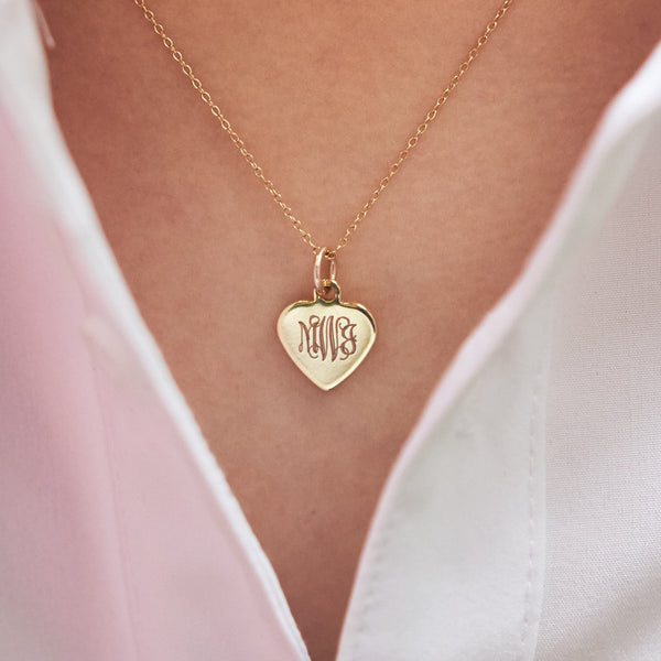 Gold Petite Heart Necklace 2