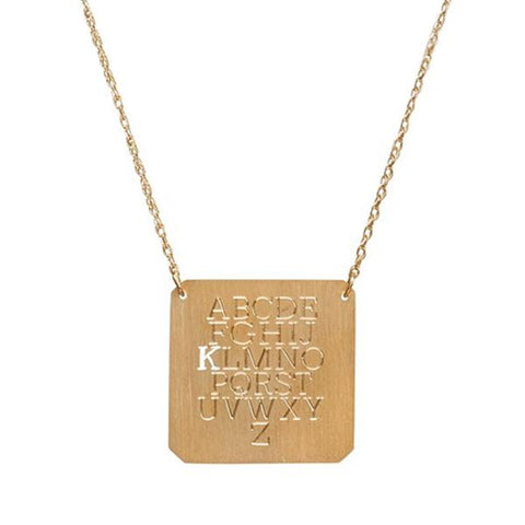 Moon and Lola Eye Chart Initial Necklace Apparel & Accessories > Jewelry > Necklaces - 1