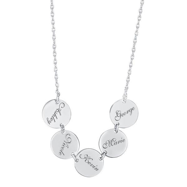 Engraved Family Name Disc Necklace Apparel & Accessories > Jewelry > Necklaces - 2