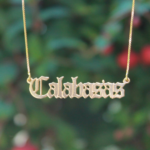 Old English Nameplate Necklace 6