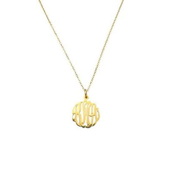 Sterling Silver Mini Monogram Necklace-Purple Mermaid Designs Apparel & Accessories > Jewelry > Necklaces - 2