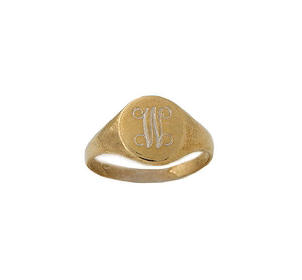 Small Gold Filled Signet Ring - Golden Thread Apparel & Accessories > Jewelry > Rings - 2