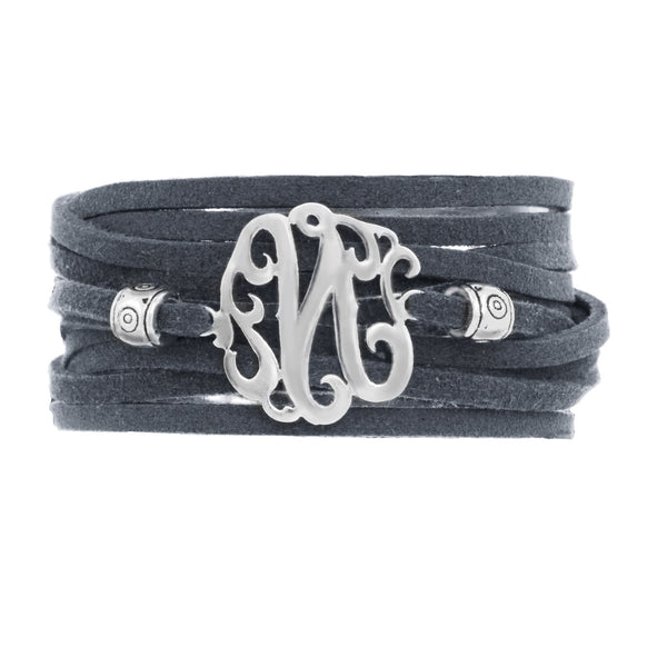 Leather Wrap Initial Bracelet-Lots of Colors-Shame on Jane Apparel & Accessories > Jewelry > Bracelets - 10