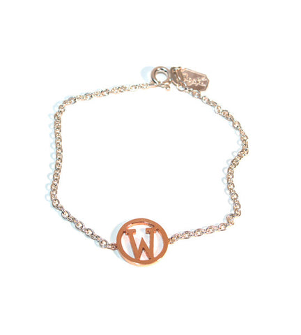 Mixed Metal Initial Bracelet Apparel & Accessories > Jewelry > Bracelets