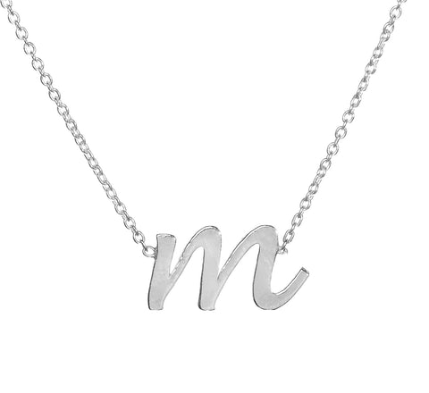 Sterling Silver Lowercase Initial Necklace Apparel & Accessories > Jewelry > Necklaces - 1