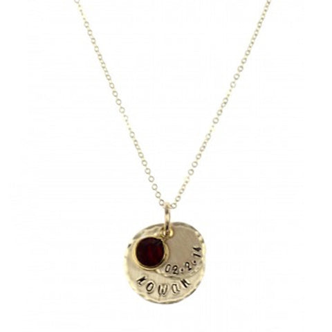 Hand Stamped Layered Birthstone Mommy Necklace Apparel & Accessories > Jewelry > Necklaces - 1