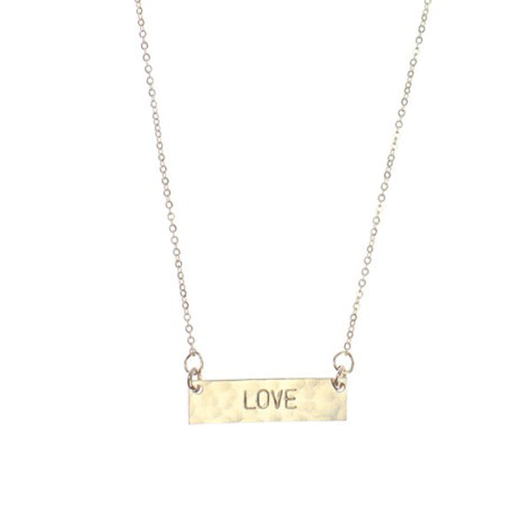 Personalized Hand Stamped Mini Horizontal Bar Necklace 2