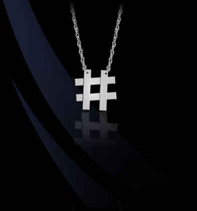 Hashtag Emoji Necklace by Jane Basch Designs Apparel & Accessories > Jewelry > Necklaces