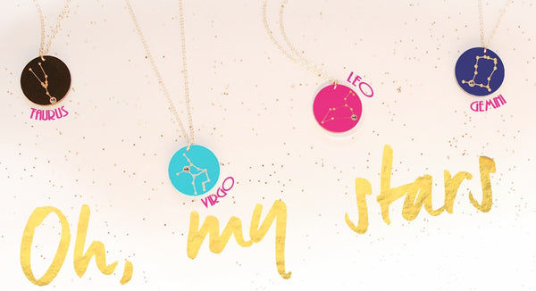 Acrylic Zodiac Constellation Necklace by Moon and Lola Apparel & Accessories > Jewelry > Necklaces - 3