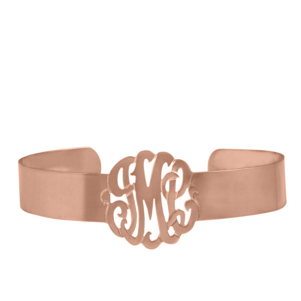 Sterling Silver Monogram Cuff Bracelet by Purple Mermaid Designs Apparel & Accessories > Jewelry > Bracelets - 3