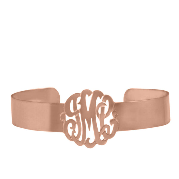 Gold Monogram Cuff Bracelet by Purple Mermaid Designs Apparel & Accessories > Jewelry > Bracelets - 2