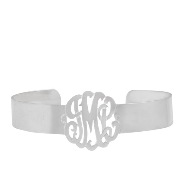 Rose Gold Monogram Cuff Bracelet by Purple Mermaid Designs Apparel & Accessories > Jewelry > Bracelets - 3