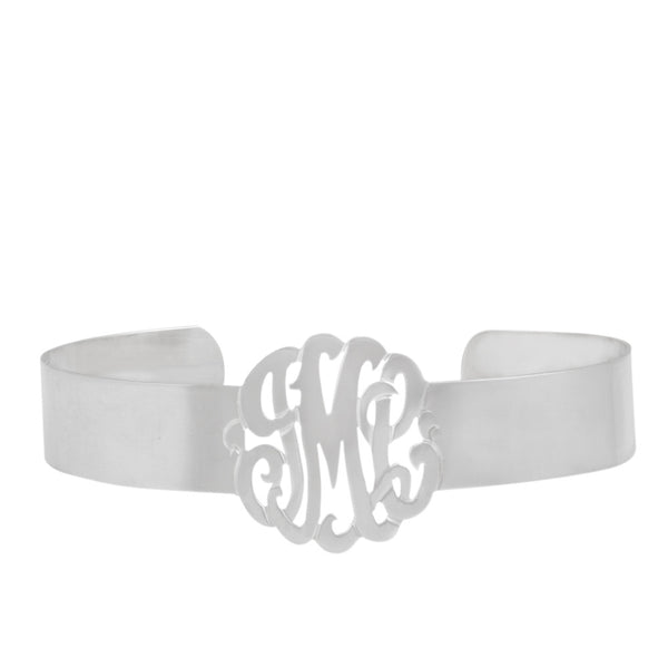 Gold Monogram Cuff Bracelet by Purple Mermaid Designs Apparel & Accessories > Jewelry > Bracelets - 3