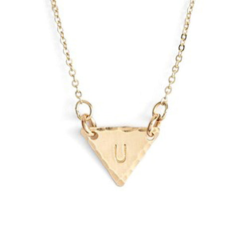 Personalized Small Triangle Identity Necklace - Nashelle Apparel & Accessories > Jewelry > Necklaces - 1